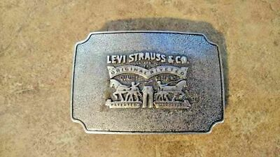 Extremely Rare Vintage Levi Strauss & Company Pewter Belt Buckle