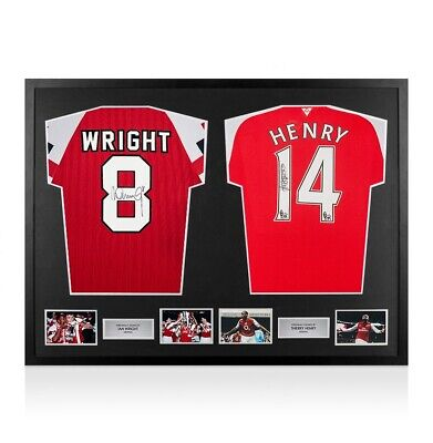 4a9677913 Framed Ian Wright   Thierry Henry Signed Arsenal Shirts - Dual Framed