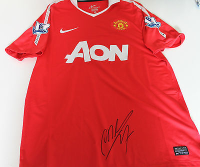 Man Utd - Antonio Valencia Hand Signed Jersey Unframed + Photo Proof & C.o.a