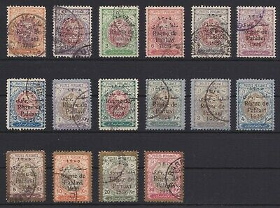 1926 REGNE DE PAHLAVI - Complete used set - all perf. 11½