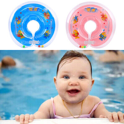 Baby BB Swimming Neck Float Inflatables Rings Adjustable Safety Aids 1-18 Months