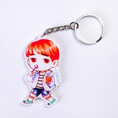 KPOP BTS JIMIN Charm Keychains Bangtan Boys Wallet Car Keyring Women Gift Party