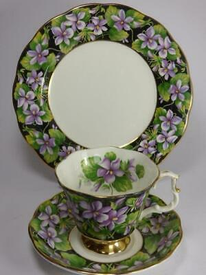 Royal Albert- Purple Violets- Tea Trio  - Provincial Flowers