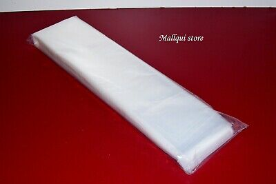 100 CLEAR POLY BAGS 3 x 26 PLASTIC POSTERS, SLEEVES OPEN TOP ULINE BEST 2 MIL