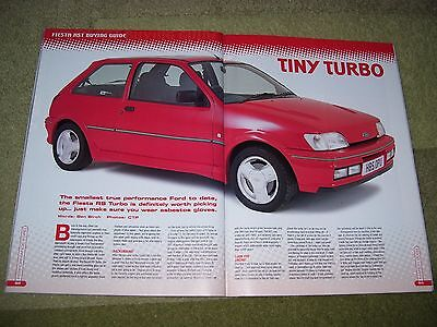 Performance Ford Magazine March 2002...fiesta Rs Turbo Buying Guide.