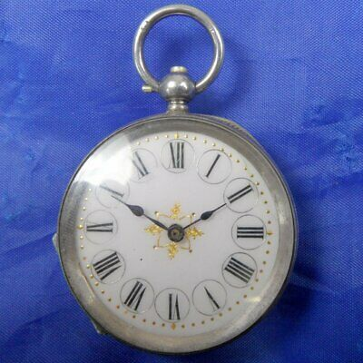 (F) Stunning Antique Decorative Silver Pocket Watch K&co