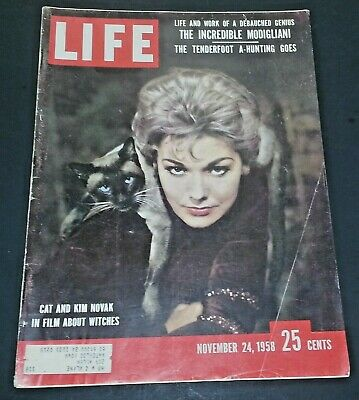 November 24, 1958 LIFE Magazine KIM Novack 50s Advertising FREE SHIPPING Nov 11