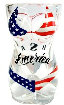 Full Body USA Flag Bikini Shot Glass