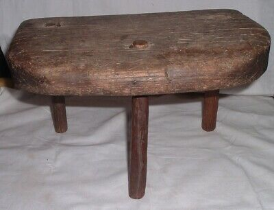 Milking Stool, authentic American primitive/antique, hand-made, folk art PA Farm