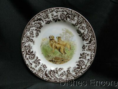 "Spode Woodland Golden Retriever Hunting Dog: Salad Plate (s), 7 3/4"", NEW w/ Box"
