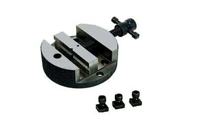 """3"""" Wide Vise for 4"""" Rotary Tables + 3 T-Nuts Bolts Machining Grinding USA Stock"""
