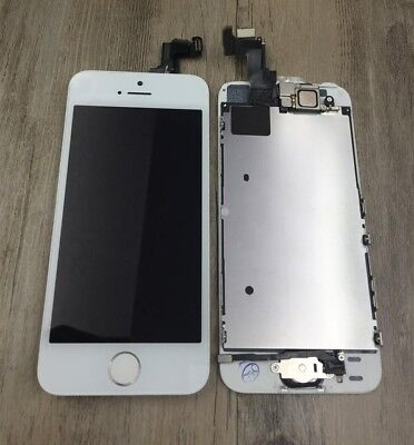 Iphone SE White Touch Screen Digitizer + LCD Display + Frame + Front Camera