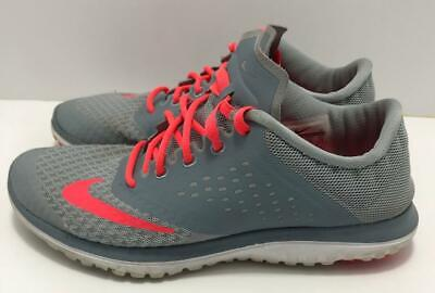 5fd9bc9d91aa NIKE FS Lite Run 2 Womens Size 7 Athletic Running Shoes Sneakers Grey Pink  Light