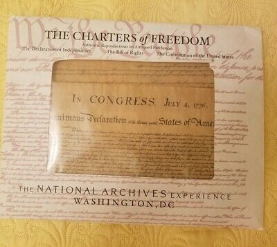 4 Historic Documents Constitution bill of rights declaration of Independence NEW