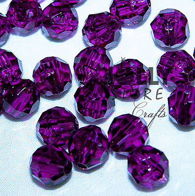 6mm Dark Amethyst Purple Faceted Round Beads 500pc made in USA crafts jewelry