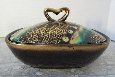 Vintage Mid Century Modern W.Germany Art Pottery Covered Dish 646