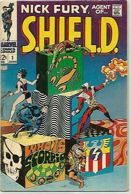 NICK FURY Agent Of SHIELD #1    Beautiful Early Silver Age  FN6.5