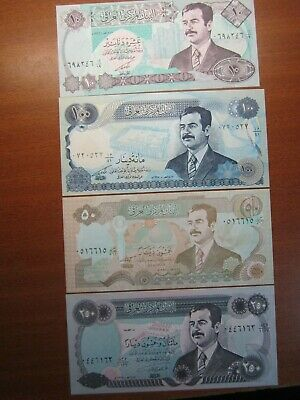 CENTRAL BANK of IRAQ Ten Fifty & One & Two Hundred Fifty DINARS NOTES UNC SET