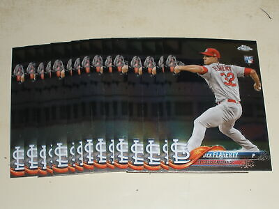 Lot Of (15) Jack Flaherty 2018 Topps Chrome Update Rookie Rc #hmt18 Cardinals