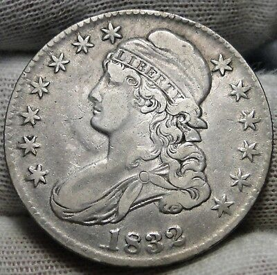 1832 Capped Bust Half Dollar 50 Cents - Nice Coin.. Free Shipping  (6844)