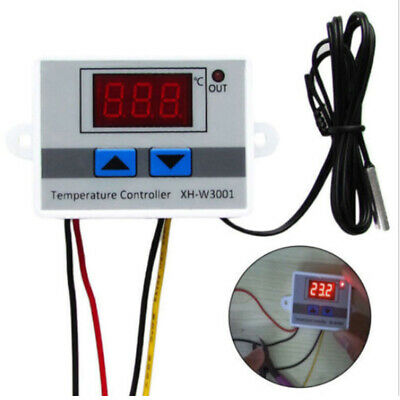 XH-W3001 Digital LED Microcomp Thermostat Temperature Controller Switch 220V QR5