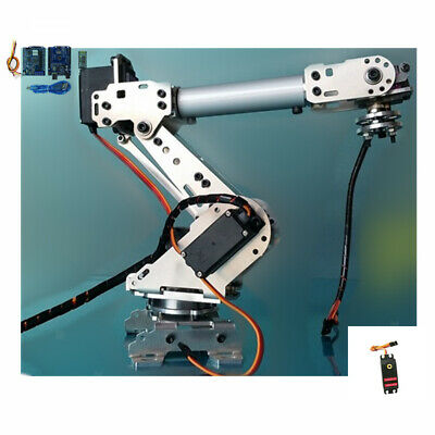 6 Axis Robotic Mechanical Arm Gripper Kit with MG-996R Servo For Arduino