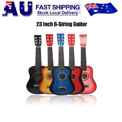 2019 New 23'' Kids Acoustic Guitar 6 String Practice Music Instruments Gift AU