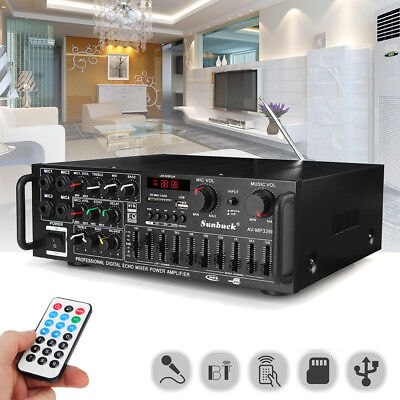 2000W 220V bluetooth Stereo Amplifier Technical Professional DJ Mic Mixing