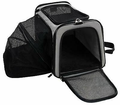 Expandable Soft Sided Travel Dog Cat Bag Pet Carrier Airline Approved Durable
