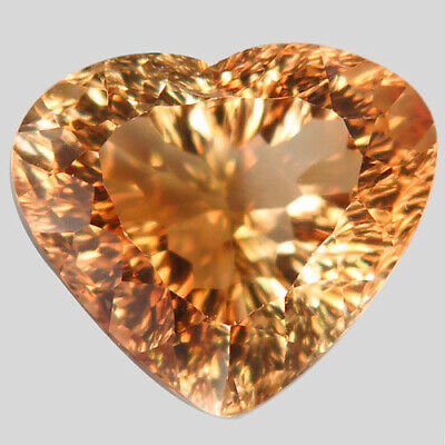 15.7ct.Natural Top Imperial Topaz Unheated (Brazil) Millennium 16x14mm.AAA Nr!.