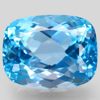 20.79ct.Top Sky Blue Topaz 100%Natural (Brazil) Antique Facet BIG! AAA Glowing.
