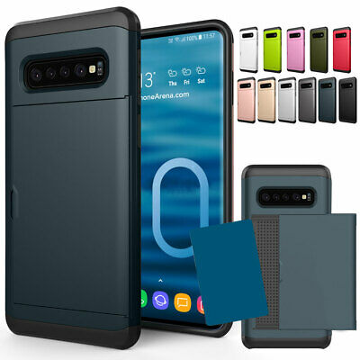 For Samsung Galaxy S10e S10 Plus Shockproof Phone Case with Credit Card Holder