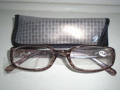 dc40371d6cd READING GLASSES WITH Case Betaview Mens Womens Spectacles Plastic ...