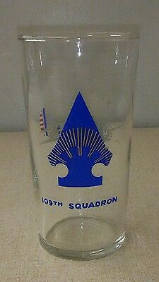 Vtg 109th Squadron Air Force Drinking Glass Tumbler Libbey