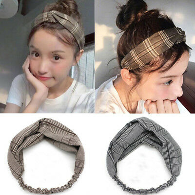 Women Girl Turban Twist Knot Head Wrap Headband Twisted Knotted Hair Band FG