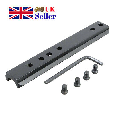 Tactical 11Slot Base Scope Riser 120mm Picatinny Mount Rail Sight Laser Outdoor