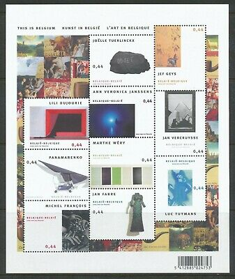 [Farde004] Belgium 2005 ARTS IN BELGIUM good sheet very fine MNH