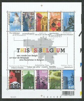[Farde009] Belgium 2003 This is Belgium sheet very fine MNH. face value 4.48 €