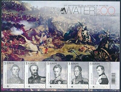 [Farde036] Belgium 2015 BATTLE OF WATERLOO - WAR Good sheet very fine MNH