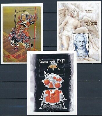 [H16665] Gambia 1999 THEMATICS Good lot of 3 sheets very fine MNH