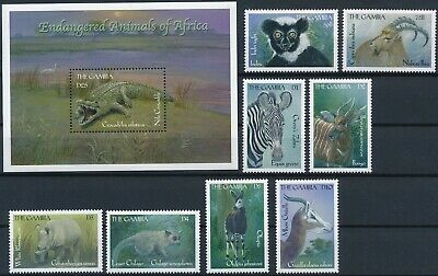 [H16885] Gambia 2000 WILD ANIMALS Good lot set of stamps + sheet very fine MNH