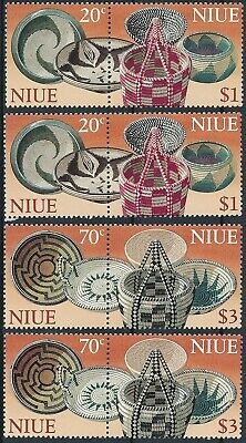 [H17119] NIUE Handcraft Good set of stamps X2 IN PAIRS very fine MNH