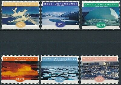 [H17129] Ross Dependency 1998 GLACIERS Good set of stamps very fine MNH