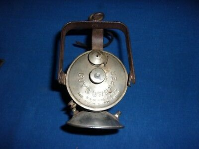 Antique 1912 Guys Dropper Coal Mine Mining Miners Superintendent Carbide Lamp
