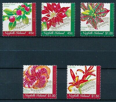 [H11904] Norfolk Isl 2002 : Flowers - Good Set of Very Fine MNH Stamps