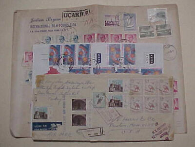TURKEY  10 or MORE STAMPS ON EACH OF 3 COVERS 1961,1971,2002