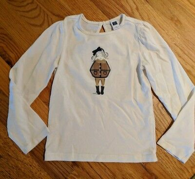 Girls,. Janie And Jack Size 5, White 2016 Collection Shirt