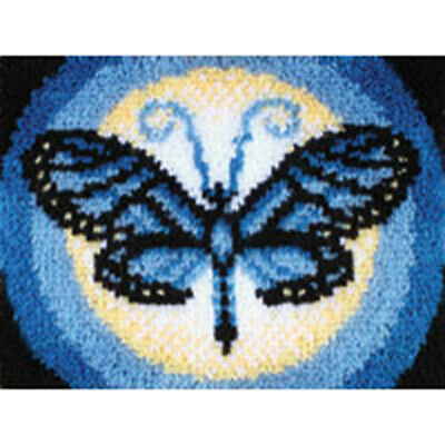 "Butterfly Moon Latch Hook Kit 15x20"" By Caron Wonderart.  Tool Included."