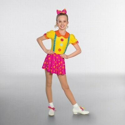 1st Position Large Buttoned Clown Circus Dance Costume
