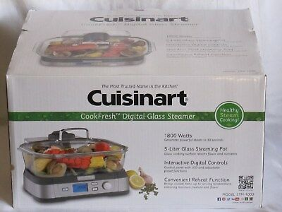 Conair Cuisinart Stm-1000 Digital Glass Food Steamer Healthy Cooking Brand New